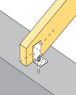 перфорированный крепёж для деревянных конструкций в